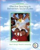 Effective Teaching in Elementary Social Studies, Savage, Thomas V. and Armstrong, David G., 0131738437