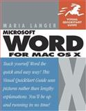 Word X for Mac OS X, Maria Langer, 0201758431