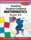 Teaching Student-Centered Mathematics : Grades K-3, Van de Walle, John A. and Lovin, Lou Ann H., 0205408435