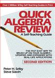 Quick Algebra Review, Peter H. Selby and Steven L. Slavin, 0471578436