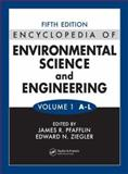Encyclopedia of Environmental Science and Engineering : Volumes 1 And 2, Pfafflin, J. R., 0849398436