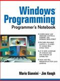 The Windows Programming Programmer's Notebook, Giannini, Mario and Keogh, Jim, 0130278459