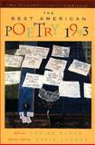 The Best American Poetry, 1993, Lehman, David and Glück, Louise, 0020698461