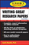 Writing Great Research Papers, Laurie Rozakis, 0071488480