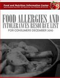 Food Allergies and Intolerances Resource List for Consumers, Food and Nutrition Information Center, 1499538499