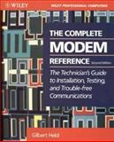 The Complete Modem Reference, Gilbert Held, 0471008524