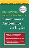 Diccionario Merriam-Webster de Sinónimos y Antónimos en Inglés, , 0877798524