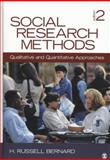 Social Research Methods : Qualitative and Quantitative Approaches, Bernard, H. Russell, 1412978548