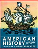 American History : A Survey, Brinkley, Alan, 0077238559