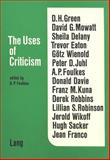 The Uses of Critism, , 3261018550