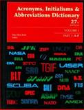 Acronyms Initialisms and Abbreviations Dictionary, Bonk, Mary Rose and Dear, Pamela, 0787628573