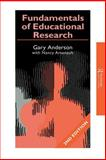Fundamentals in Education Research, Anderson, Garry and Arsenault, Nancy L., 0750708573