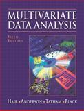 Multivariate Data Analysis, Hair, Joseph F. and Anderson, Rolph E., 0138948585