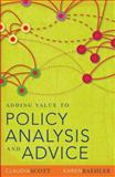 Adding Value to Policy Analysis and Advice, Scott, Claudia and Baehler, Karen, 086840859X