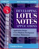 Developing Lotus Notes Applications, Carolyn Kraut, 0471008613