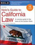 Nolo's Guide to California Law, Lisa Guerin and Patricia Gima, 1413308627