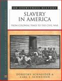 Slavery in America : From Colonial Times to the Civil War, Schneider, Dorothy and Schneider, Carl J., 0816038635