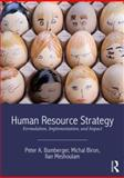 Human Resource Strategy : Formulation, Implementation, and Impact, Bamberger, Peter A. and Biron, Michal, 0415658632