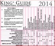 King Guide to Chemotherapy Admixtures Wall Chart - Laminated, Catania, Patrick N., 0978638654