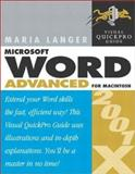 Word 2001/X Advanced for Macintosh 9780321148735