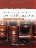 Introduction to Law for Paralegals : Critical Thinking Approach, Currier and Eimermann, Thomas E., 0735598754