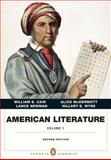 American Literature, Volume 1 Plus NEW MyLiteratureLab -- Access Card Package, Cain, William E. and McDermott, Alice, 0134038762