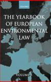 The Yearbook of European Environmental Law, , 0199278784