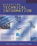 Reporting Technical Information, Houp, Kenneth W. and Pearsall, Thomas E., 0195178793