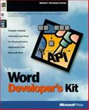 Microsoft Word Developer's Kit : Create Your Own Custom Applications with Windows 95, Microsoft Official Academic Course Staff, 1556158807