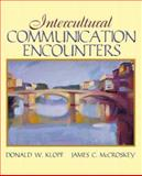 Intercultural Communication Encounters, McCroskey, James and Klopf, Donald W., 0205458815