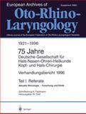 Deutschen Gesellschaft Für Hals-Nasen-Ohren-Heilkunde, Kopf- Und Hals-Chirurgie, , 3540608818