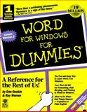 Word for Windows 2 for Dummies, Gookin, Dan, 187805886X