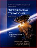Srsm Diff Equ Bnd Val Pblm, Warren S. Wright, Dennis G. Zill, Carol D. Wright, 0534418880