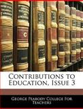 Contributions to Education, Issue, , 1144158907
