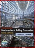 Fundamentals of Building Construction : Materials and Methods, Allen, Edward and Iano, Joseph, 1118138910
