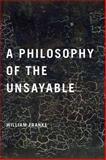 A Philosophy of the Unsayable, Franke, William, 026802894X
