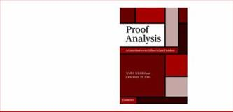 Proof Analysis : A Contribution to Hilbert's Last Problem, Negri, Sara and von Plato, Jan, 1107008956