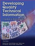 Developing Quality Technical Information : A Handbook for Writers and Editors, Carey, Michelle and Lanyi, Moira McFadden, 0133118975