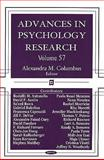 Advances in Psychology Research, , 1604568976