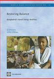Restoring Balance, Mohammad Asaduzzaman and Douglas F. Barnes, 082137897X
