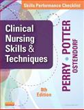 Skills Performance Checklists for Clinical Nursing Skills and Techniques, Perry, Anne Griffin and Potter, Patricia A., 0323088988
