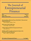 The Journal of Entrepreneurial Finance, Volume 16, Issue 2, Rassoul Yazdipour, William P. Neace, Sherrill Shaffer, Tatyana Sokolyk, Haim Kedar-Levy, James C. Brau, C. Troy Carpenter, 0692028986