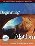 Beginning Algebra, Hutchison, Donald and Bergman, Mats, 0072549017