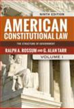American Constitutional Law, 2-Volume Set, Rossum, Ralph A. and Tarr, G. Alan, 081334901X