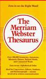 The Merriam-Webster Thesaurus, Merriam-Webster, Inc. Staff, 0877799024
