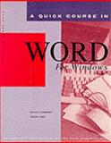 Quick Course in WordPerfect 5.1 for DOS : Education/Training Edition, Urban, Polly and Cox, Joyce, 1879399059
