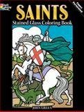 Saints Stained Glass Coloring Book, John Green, 0486479099