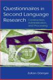 Questionnaires in Second Language Research 9780805839098