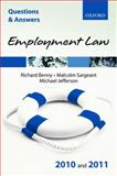 Employment Law 2010 and 2011, Benny, Richard and Sargeant, Malcolm, 0199579105