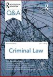 Q and A Criminal Law 2011-2012, Baird, Norman, 0415599105